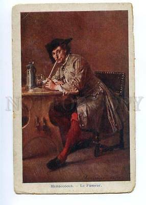 148923 Smoker Man by MEISSONNIER vintage PC