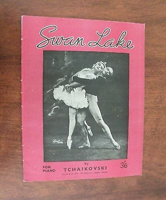 Vintage Swan Lake Tchaikovski piano score sheet music Allan & Co Melbourne 1940s