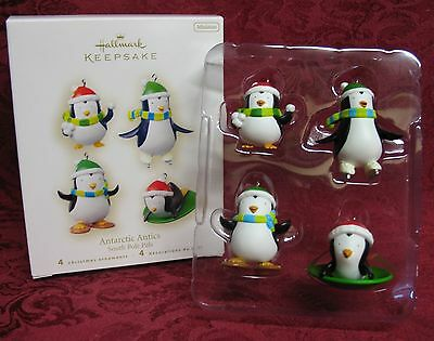Hallmark 2008 Penguin Miniature Ornaments~Set Of 4~Antarctic Antics