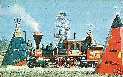 Org Vintage 1950s-60s Chrome PC- Amusement Park- South of the Border- Train Ride