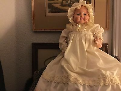 """Horsman 130th Anniversary Baby Dimples 20"""" Blinky Eyes display Doll marked 1995"""