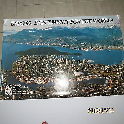 Expo 86  Advertising Poster - Promotional Piece from Tour Office - Very Rare