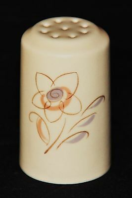 Poole Pottery Pepper Pot, Trudiana Decoration on Magnolia, Excellent Condition