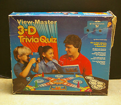 Vintage 1984 View-Master 3-D Trivia Quiz Game No.374-802-01 - Counted & Complete