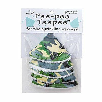 The Peepee Teepee for the Sprinkling WeeWee: 5 Green Camo in Cellophane Bag