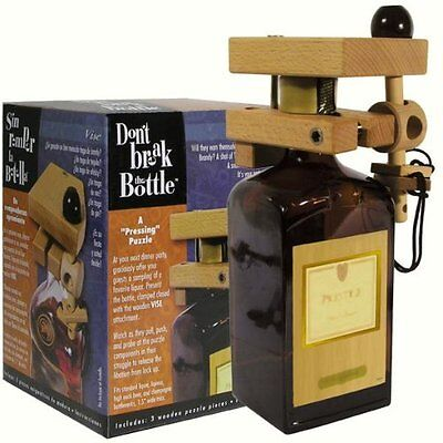Don't Break The Bottle Wood Wine Carrier Puzzle Gift - The V