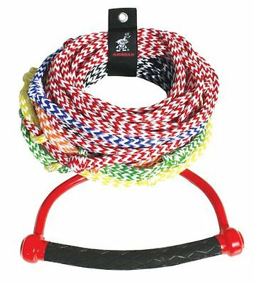 AIRHEAD AHSR-8 Water Ski Rope with Diamond Grip Handle, 8 Section (75')