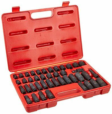 "ATD Tools 4601 3/8"" Drive 6-Point 42-Piece SAE/Metric/Standa"