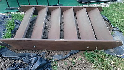 solid set of used hardwood stairs, 45mm thick timber, two 12mm galvanised rods