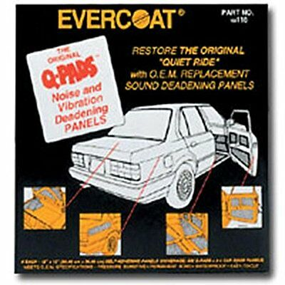 Evercoat 116 Q-Pads Sound Deadener 12 x 12 (6 Per Pack)