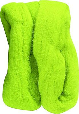Clover Natural Wool Roving, Lime Green