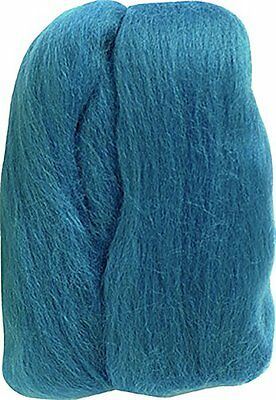 Clover Natural Wool Roving, Teal