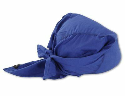 Ergodyne Chill-Its 6710 Evaporative Cooling Triangle Hat, Solid Blue