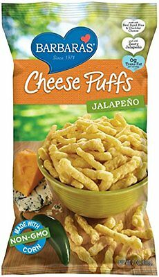 Barbara's Bakery Jalapeno Cheese Puffs  7-Ounce Bags (Pack of 12)