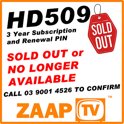 ZAAPTV 509 - 3 Years Renewal Service Subscription for HD509 ARABIC IPTV SOLD OUT