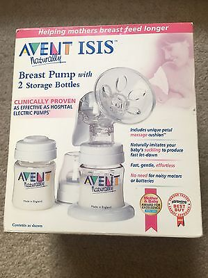 Avent Manual Breast Pump with 2 storage bottles
