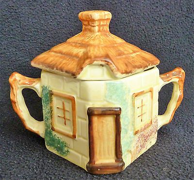Charming Cottageware Pottery Sugar Bowl with Lid Staffordshire PPC