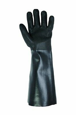 Custom Leathercraft 2084L PVC Gloves with 18-Inch Gauntlet Cuff, Large