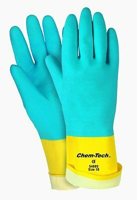 MCR Safety 5400S 10-1/2-Inch Chem-Tech Seamless Nitrile Rubber Gloves with