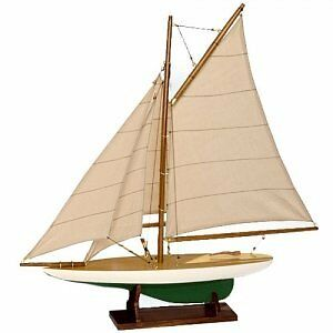 Mini Pond Yachts Set - Handcrafted Replica - Lacquer Finish