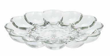Anchor Hocking 86148 Clear Glass Presense Deviled Egg Plate