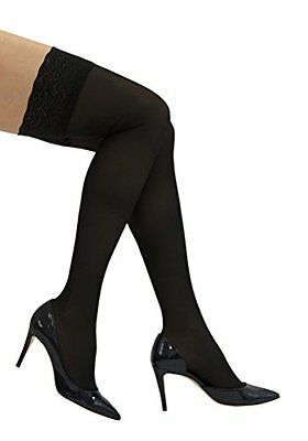 GABRIALLA Thigh Highs Graduated Compression 18-20 mmHg (Sheer with Lace Top