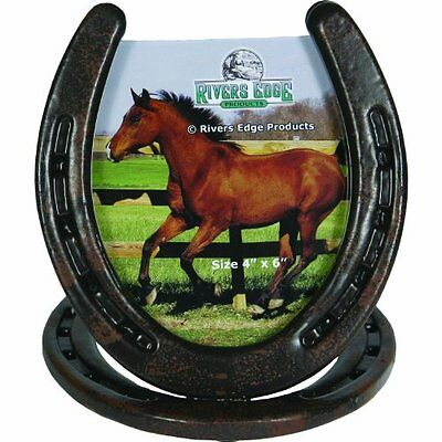 River's Edge Horseshoe Picture Frame, Brown