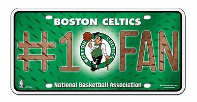 Boston Celtics License Plate - #1 Fan