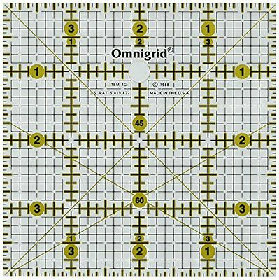 Omnigrid 4-Inch by 4-Inch Grid Ruler