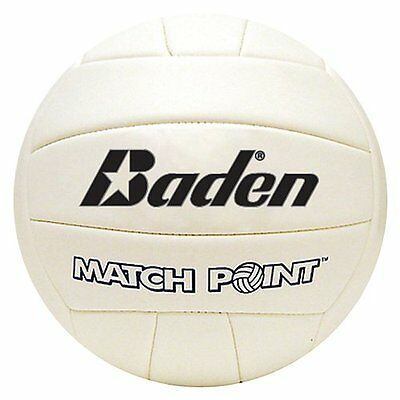 Baden MatchPoint Official Size 5 Cushioned Volleyball, White