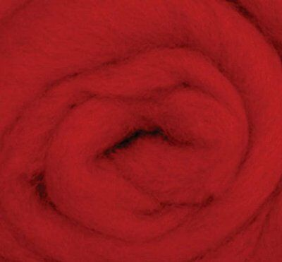"""Wistyria Editions Ultra Fine 12"""" Wool Roving .22 Oz: Red"""