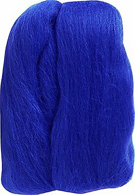 Clover Natural Wool Roving, Blue