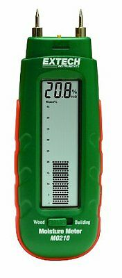 Extech MO210 Pocket Size Moisture Meter with 2-in-1 Digital LCD Readout and