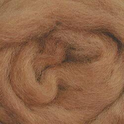 """Wool Roving 12"""" .22 Ounce-Camel"""