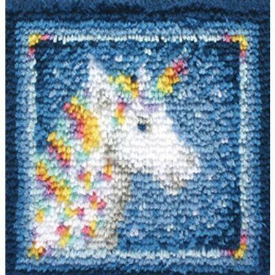 "Wonderart Latch-Hook Kit, Unicorn, 12"" X 12"""