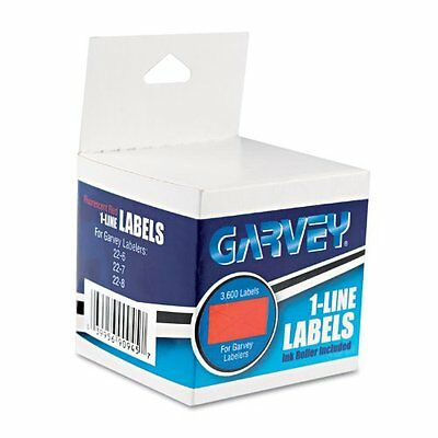 Pricemarker Labels, 1 Line, Fluor Red, 3 Rolls/Box COS090945