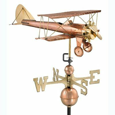 Good Directions 9521P Biplane Weathervane, Polished Copper