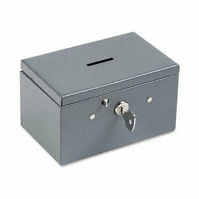 Buddy Products Stamp and Coin Box, Steel, 3.375 x 3 x 5.5 Inches, Gray (050
