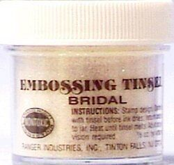 Ranger 1 Ounce Tinsels Embossing Powder, Bridal