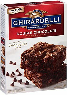 Ghirardelli Chocolate Brownie Mix  Double Chocolate  18 Ounce Boxes (Pack o