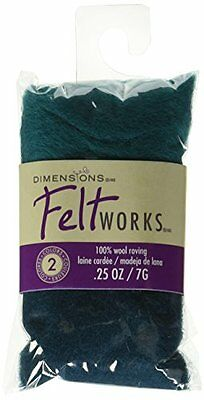 Dimensions Needlecrafts Feltworks Wool Roving, Turquoise - T