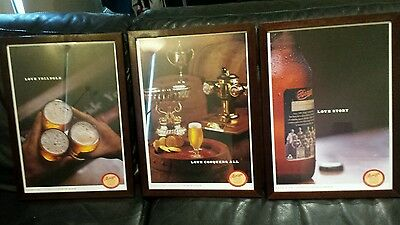 Original Rare Set Of 3 Collectable James Boag Strong Arm Bitter Beer Pictures
