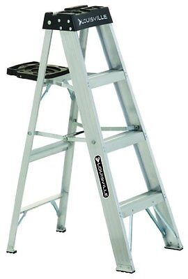Louisville Ladder AS3004 300-Pound Duty Rating Aluminum Stepladder, 4-Foot