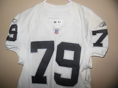 Oakland Raiders Game Used Football Jersey