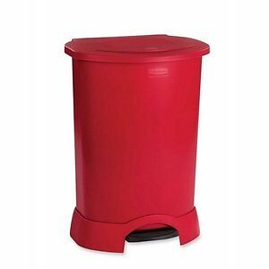 RCP6147RED - Rubbermaid Step-on Container, Oval, Polyethylen