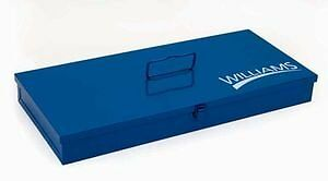 Williams TB-104 Blue Toolbox, 25 by 9 by 2-Inch