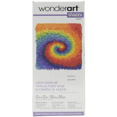 "WonderArt Shaggy Latch-Hook Kit, Small Tie Die, 12"" X 12"""