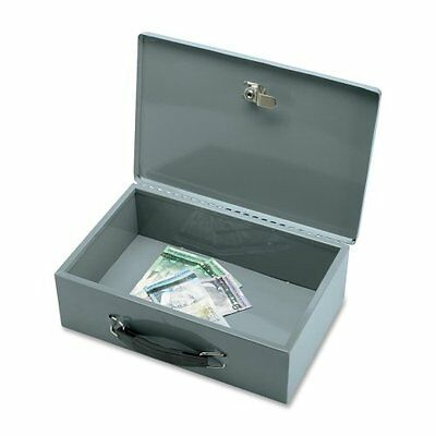 Security Chest with 2 Keys, Steel, 12-3/4 x 8-1/4 x 3-3/4 Inches, Gray