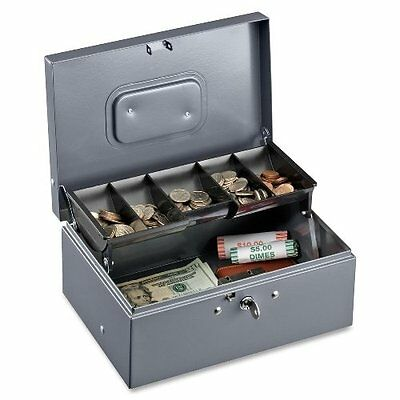 Sparco Cash Box, 5 Compartments, 11-3/8 x 7-1/2 x 3-3/8 Inch