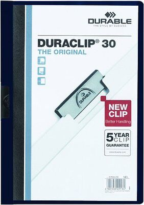 DURABLE Vinyl DuraClip Report Cover with Clip, Letter, Holds